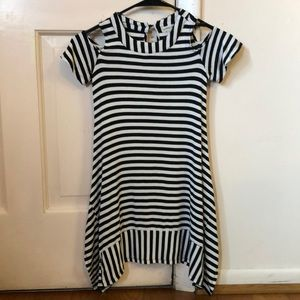 Black and white Jersey fabric dress